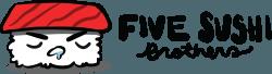 Five Sushi Brothers Horizontal Logo