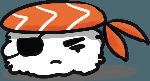 Pirate Same (Sushi Character)
